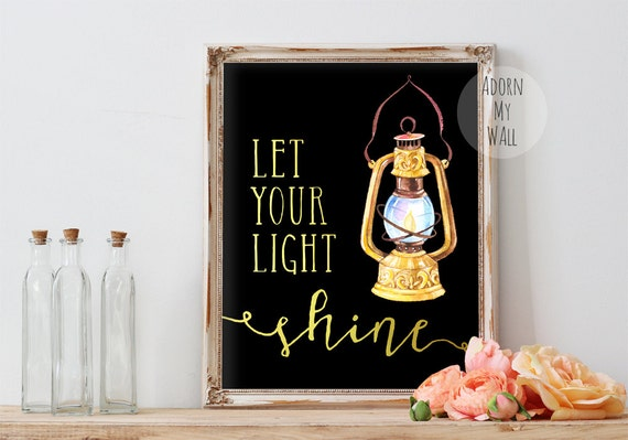 Let your light shine printable art inspirational by ...