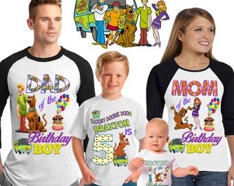 Scooby Doo birthday shirt /scooby doo shirt /family matching shirts/scooby doo birthday party shirt /scooby doo/ family shirts