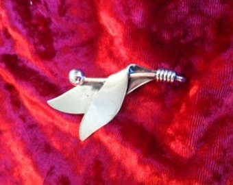 Sterling Silver Taxco Leaf Pin