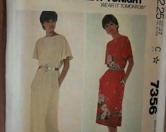 McCall's Make It Tonight Pattern No 7356 Dress Misses Size Medium - Cut