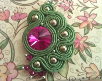 Soutache Earrings with Swarovski element