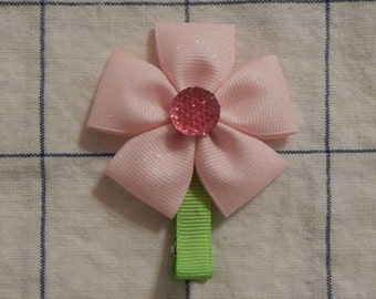 Flower Hair Clip, Ribbon Flower, Flower clip, Flower Bow, Hair clip for girl, Hair Clip for Baby, Hair Bow, Flower Bow, Hair Accessories