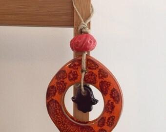 Wand keramik deko etsy for Dekoration wand