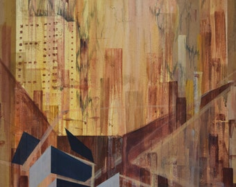 Context of Demolition (2) Acrylic on Paper