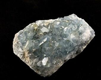 Celestite Celestine Crystal Cluster Geode Full of Crystals A223