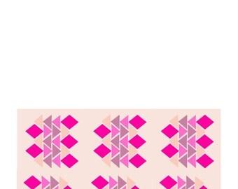Pink Geometric Card *Print @ Home*
