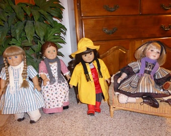 Four American Girl Doll Scarves-Special Limited Time Offer, Doll Scarves, Scarves for dolls, Knitted Doll Scarves, Knitted Scarves for Dolls