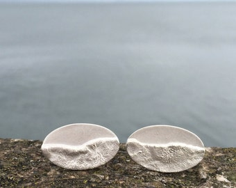 Silver Shoreline Cufflinks