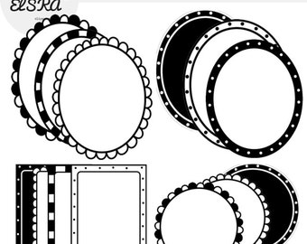 Doodle Frames Black and White