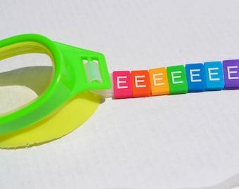 E Letter Tile - Swim Goggle Accessory