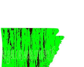Arkansas distressed    SVG DFX Cut file  Cricut explore filescrapbook vinyl decal wood sign cricut cameo Commercial use