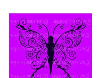 Butterfly elegant  SVG Cut file  Cricut explore file t-shirt decal wood signsscrapbook vinyl decal wood sign t shirt cricut cameo