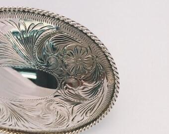 Vintage Sterling Silver Belt Buckle
