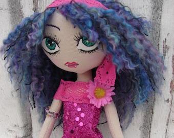 Petunia rag doll (rag doll, handmade doll, ooak doll)