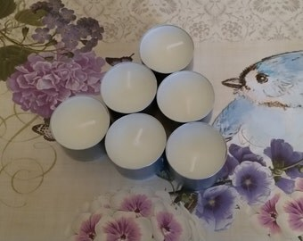 Unscented tealights - 100% natural soy wax