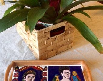 Frida Kahlo Decorative Tray / Serving Tray /  Mexican Tile / Boho Decor / wedding gift / gift for mom / bathroom decor /nightstand