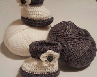 Baby Wool Booties.