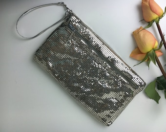 70's Whiting & Davis Disco Silver Wristlet