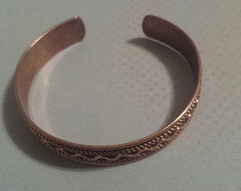Copper Cuff Bracelet Bangle