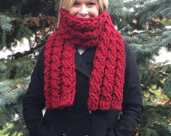 Large Cabled Womens Scarf