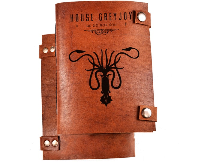 House greyjoy journal - House greyjoy notebook - we do not saw - House greyjoy logo - greyjoy house - game of thrones journal gift