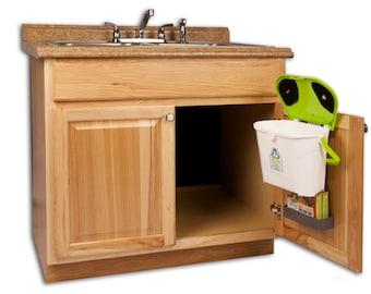 kitchen compost caddy under sink compost system with storage. Black Bedroom Furniture Sets. Home Design Ideas