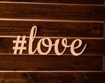 Love wooden sign - Lasercut - cutout - wedding decoration - natural - Valentine's day - anniversary - birthday - door decor - Living room
