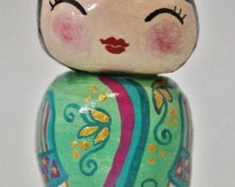 Handmade Kokeshi Doll - Bambola Kokes