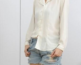Vintage Ivory White blouse