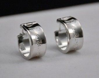 Tiffany & Co. Sterling Silver Earrings...Pierced....  J185