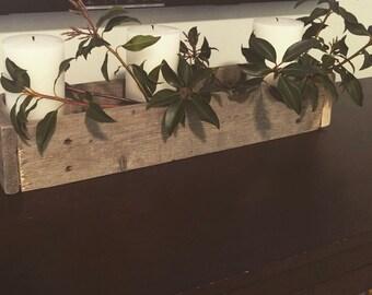 Natural wood table box