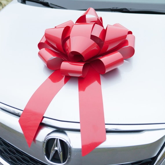 Car Bow Red Magnetic Bows HUGE Premium Gift Wrap For Your