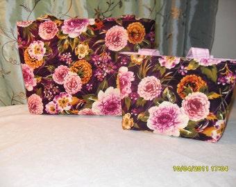 Mommy & Me Purple Floral Handbag Set