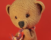 Teddy Bear - Amigurumi toys, crochet toys, crochet patterns, crochet animal, unique pattern, all legs and head are moving. My pattern