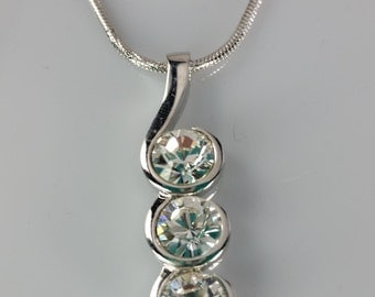 Vintage Fifth Avenue Collection Solitaire Necklace