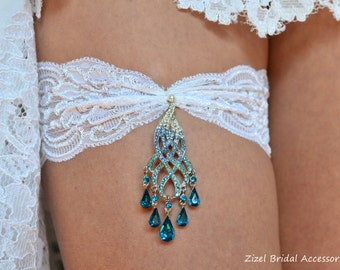 Listing For petersjaclyn KEEP GARTER  Teal Blue Garte