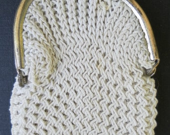 Knitted coin purse French vintage