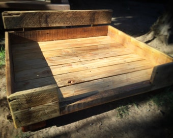 The Freddie Beddie - Repurposed Pallet Wood Pet Bed