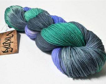 Hand Dyed Yarn - Hand Dyed Sock Yarn - Superwash Merino Wool in 'Preppy'