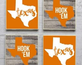 Texas Coasters, Longhorn Coasters, Texas ersity Longhorn Coasters, Hook Em Horns, University of Texas, Texas Longhorns, Hook Em, Coasters