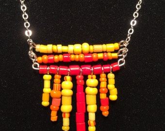 Long Graduated Trade Bead Necklace