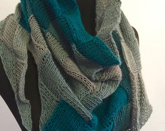 Carrie Entrelac Scarf Knitting Pattern