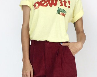 1970's Vintage Dew It Mountain Dew Soft Tee