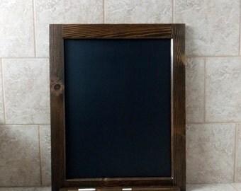 Wood Framed Chalkboard - Kitchen Chalkboard - Large Framed Chalkboard - Tall Chalkboard - Rustic Chalkboard - Chalkboard With Ledge 24 x 30