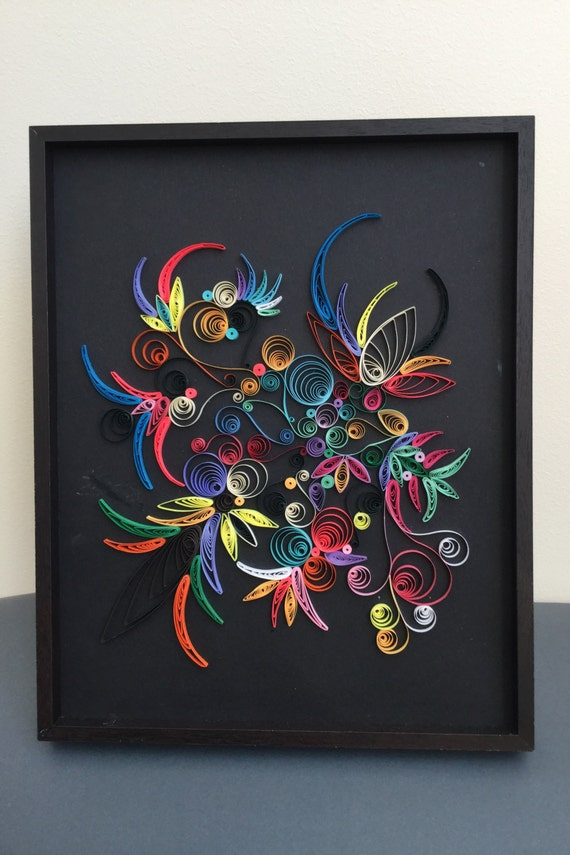 Quilling Paper Art Brasil Quilling Handmade Wall Art Color