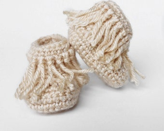 Baby Moccasins // Crochet Moccasins // Baby Booties