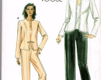 Vogue 8005 - Jacket, Pants, Blouse - Size 8, 10, 12, 14 - Uncut