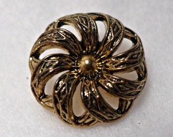 Metal button - gold - 27mm