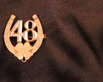 Vintage Lucky Horseshoe Pin