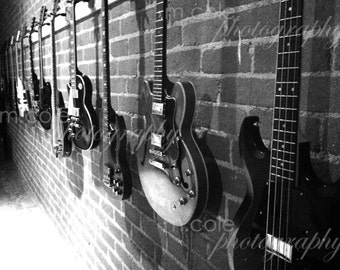 Guitars Black and White Photography